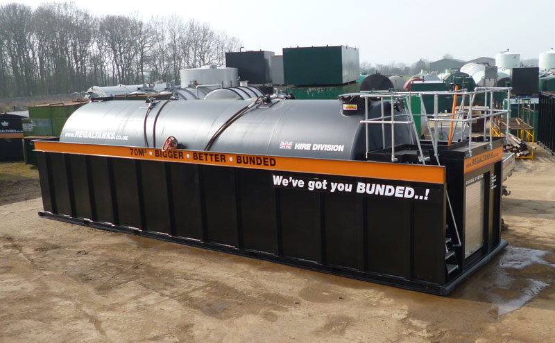 Bunded Storage Tanks for Hire