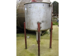 Stainless Steel Open Top Used Tank